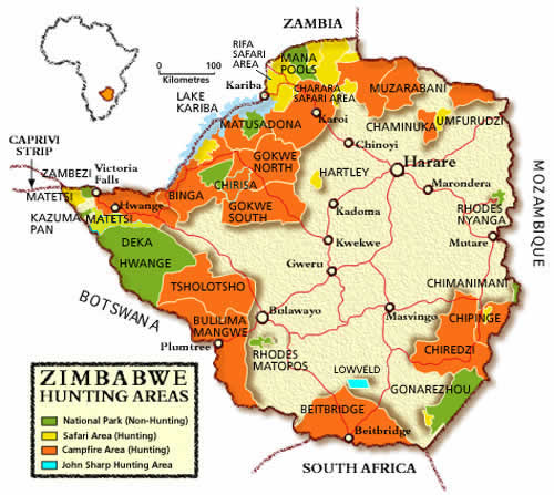 Hunting Areas in Zimbabwe - Including the Bubye Valley Conservancy